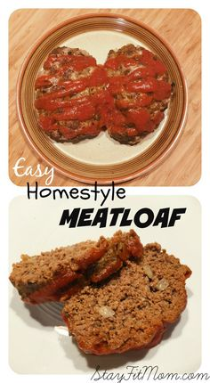 This Easy Paleo Homestyle Meatloaf is perfect for a weeknight meal and can be thrown together in just minutes! Your whole family will love this simple meatloaf recipe! Paleo Meatloaf, Meatloaf Recipes, Beef Recipes, Cooking Recipes, Healthy Recipes, Easy Meatloaf, Hamburger Recipes, Healthy Meals, Eating Clean
