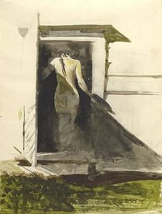 """""""In the Doorway"""" Andrew Wyeth (via Jill Marie Greenhill)     kThis post has 56 notes  tThis was posted 6 months ago Rhttp://t.umblr.com/redirect?z=https%3A%2F%2Fbr.pin..."""