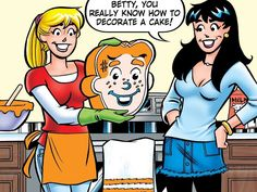 Get ready for an Archie Comics themed episode of this Monday at on Food Network! Riverdale Comics, Riverdale Archie, Archie Andrews, Betty And Veronica, Betty Cooper, Archie Comics, Food Network, Besties, Cake Recipes