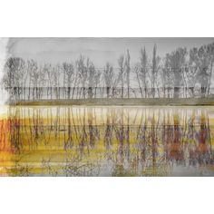 Found it at AllModern - 'Sunset Lake' by Parvez Taj Painting Print on Wrapped Canvas
