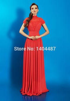Aliexpress.com : Buy Vestidos De Festa Vestido Longo Formatura High Neck Short Sleeve Chiffon Long Prom Dresses High Quality Evening Party Gown 2016 from Reliable gown party dress suppliers on Suzhou Relia Wedding&Event  | Alibaba Group