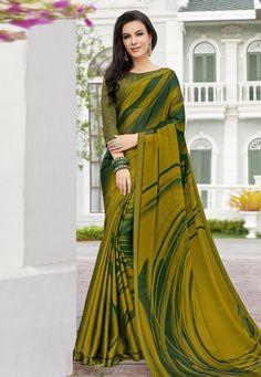 Chiffon Saree Party Wear, Fancy Sarees Party Wear, Party Wear Sarees Online, Floral Print Sarees, Saree Floral, Printed Sarees, Fancy Blouse Designs, Saree Blouse Designs, Blouse Styles
