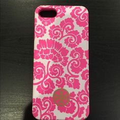 Tory Burch Silicone iPhone 5/5s case Used a few times. Color peeling a little in corners Tory Burch Accessories Phone Cases