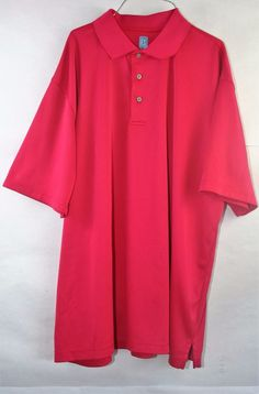PGA Tour XXL Dark Pink Short Sleeves Polo Golf Shirt XXG 2TG #PGATOUR #PoloRugby
