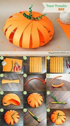 Paper Pumpkins...