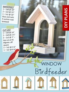Window bird feeder, diy plans