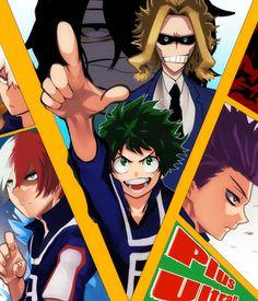 Boku no Hero Academia || Katsuki Bakugou, Todoroki Shouto, Midoriya Izuku, Aizawa Shouta, All Might, Hitoshi Shinsou.