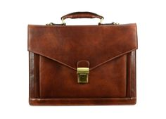 Brown Leather Briefcasemens leather briefcase by TimeResistance