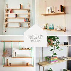 DIY estanterías de pared en madera