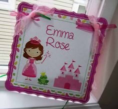 Princess Door Sign by adorebynat on Etsy, $12.00