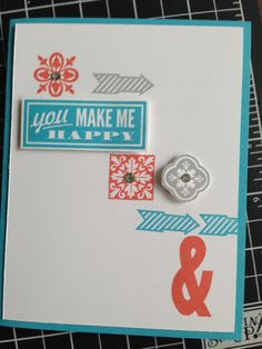 Having fun with the stamp sets Hello, Lovely