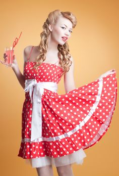 Sweet Pin Up Curly Hairstyle