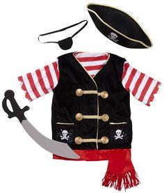 Melissa & Doug Pirate Costume Role Play Set #YoYoBirthday