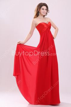 Stunning Red Sweetheart Empire Long Pregnant Evening Dresses
