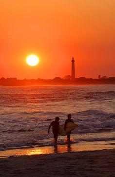 Cape May Lighthouse & Beach at Sunset. Photo courtesy SK Communications LLC.