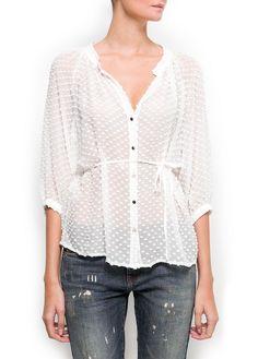 Plumeti blouse Mango