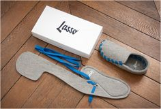 LASSO | FLAT-PACKED SLIPPERS..i want one!
