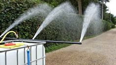 These arena watering systems damp down the riding school where dust can be a problem for the horse and riders. They can also be used as a water bowser. Landscaping Equipment, Garden Equipment, Farm Tools, Garden Tools, Garden Tractor Attachments, Garden Irrigation System, Farm Hacks, Horse Arena, Tractor Implements