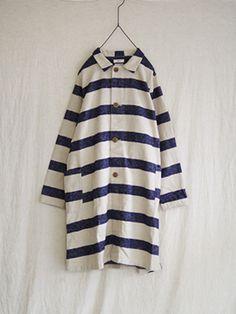 ichi linen / cotton raising herringbone border jacket