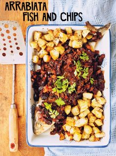 Arrabiatta Fish and Chips - Yes Please  By Whole Larder Love Photo by Rohan Anderson for Design Files