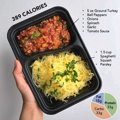 This recipe is low calories, low carbs and high protein! And… it's Whole Did I get your attention yet? This is a macro and calorie friendly version of the classic spaghetti & meat sau… Low Carb Meal, High Protein Meal Prep, Protein Lunch, High Protein Low Carb, Healthy Meal Prep, Protein Foods, Healthy Eating, Keto Meal, No Calorie Foods