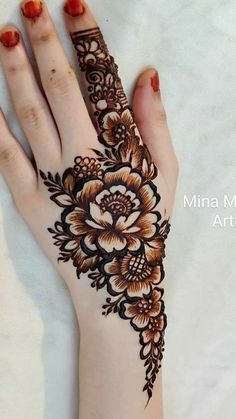 Latest Henna Designs, Floral Henna Designs, Mehndi Designs Book, Henna Designs Feet, Finger Henna Designs, Mehndi Designs For Girls, Stylish Mehndi Designs, Mehndi Design Photos, Mehndi Designs For Fingers
