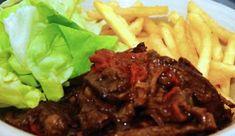 Hollandse pot: Stoofvlees of draadjesvlees met frites en sla