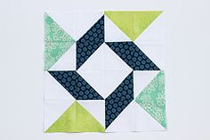 BLOCK OF THE MONTH-12 blocks using half square triangles