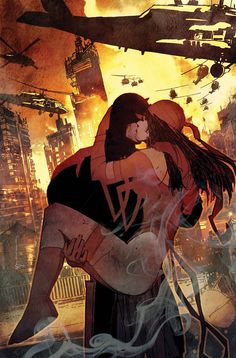 - Marvel's most deadly assassin is back in the Big Apple and has just dropped a bombshell of secret. - Now, Matt Murdock is forced to consider the true cost of being the Man Without Fear. Comic Book Characters, Comic Book Heroes, Marvel Characters, Comic Character, Comic Books Art, Comic Art, Fictional Characters, Daredevil 2015, Daredevil Elektra