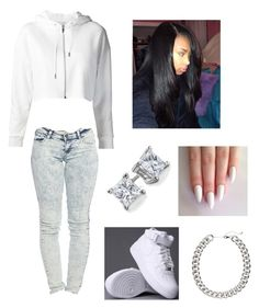"""Untitled #44"" by summertimefineeeeee ❤ liked on Polyvore featuring Yves Saint Laurent, Wet Seal, Blue Nile and H&M"
