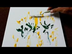 Easy Abstract Painting / Garden / Acrylics & Palette knife / Demo / Proj… - All For Garden Abstract Painting Techniques, Acrylic Painting For Beginners, Abstract Art, Marble Painting, Smart Art, Palette Knife Painting, Easy Paintings, Art Projects, Canvas Art