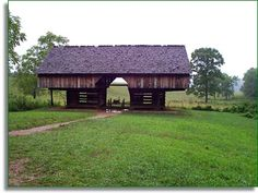 """Just look at this """"Cantilever barn"""" in Cades Cove.... BEAUTIFUL.... An amazing place in Tennessee"""
