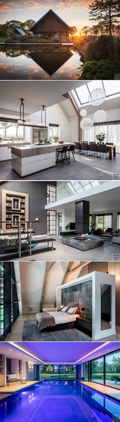 Nadire Atas on House Design The Sims, Future House, My House, Cambridge House, Casa Real, Modern Bungalow, Cabin Homes, House Goals, Interior Design Kitchen