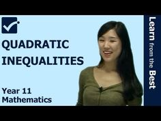 √ Quadratic Inequalities - Quadratic Graphs - Quadratic Functions - Year 11 Maths - HSC Maths Online http://www.primeonlinetutor.com/mb7 Maths Tutoring for Basic Laws of Probability including venn diagram, independent and Compound Events by Online education produced by Prime Online Tutor MB7102 http://youtu.be/lHNVtcd4MVk