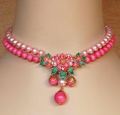 Miriam Haskell Style Rhinestone Necklace by EmbellishgirlVintage, $255.00
