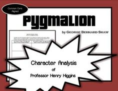 a comprehensive analysis of the characters in pygmalion a play by bernard shaw Or even george bernard shaw's 1912 play in which the main character of the story of pygmalion and the statue an analysis of pygmalion's.