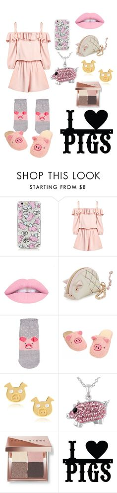 """Pig outfit"" by fairylights112233 on Polyvore featuring Betsey Johnson, Journee Collection and Bobbi Brown Cosmetics"