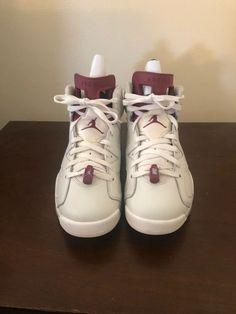 a3c2d41ac5527 Mens Nike Air Jordan Retro 6 Maroon Size 8  fashion  clothing  shoes