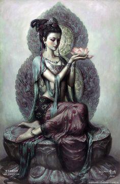 Танцующие богини художника Цзен Хао . / Красивые картинки, фото кукол / Бэйбики. Куклы фото. Одежда для кукол