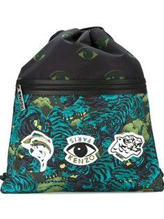 multi logo backpack