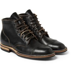Viberg - Rubber-Soled Leather Lace-Up Boots