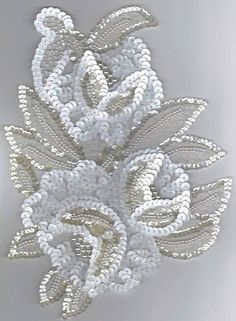 Crafts - Craft Supplie for Mask Decorations Pearl Embroidery, Tambour Embroidery, Couture Embroidery, Embroidery Fashion, Beaded Embroidery, Tambour Beading, Hand Embroidery Designs, Embroidery Patterns, Bordados Tambour