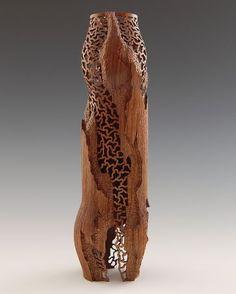 "*Wood Sculpture - ""Revelation"" by John Goodyear (American Walnut, Tung oil based varnish) Wooden Art, Wooden Bowls, Stone Sculpture, Sculpture Art, Abstract Sculpture, Hollow Art, Sculptures Céramiques, Wood Worker, Wood Creations"