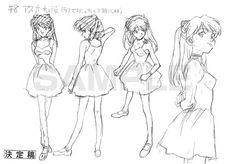 Character Model Sheet, Character Modeling, Character Art, Character Design, Evangelion Tattoo, Asuka Langley Soryu, Old Anime, Anime Poses, Tsundere