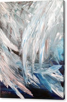 Abstract Canvas Print featuring the painting In The Arms Of An Angel by Annette Dion McGowan Angel Wings Painting, Angel Wings Art, Angel Artwork, Angel Paintings, Abstract Canvas, Canvas Art, Canvas Prints, Art Prints, Wings Drawing