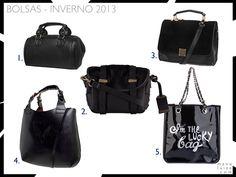 Tendência: Bolsas pretas para o Inverno 2013
