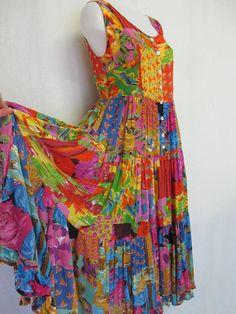 9cbb0af417 Hippie Dress Sleeveless Dress Gauze Dress Boho Dress Bila Rayon Dress