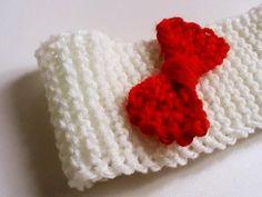 Bandeau bébé fille avec nœud papillon : Mode Bébé par creations-fait-main-divers