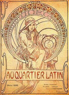 Mucha  Latin Quarter - Noel 1900 - Michael