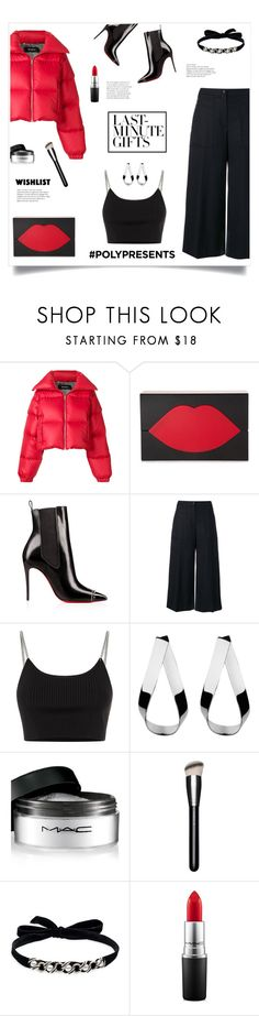 """""""Last Minute Gifts!"""" by diane1234 ❤ liked on Polyvore featuring MISBHV, Lulu Guinness, Kenzo, Alexander Wang, Jennifer Fisher, MAC Cosmetics, DANNIJO, WishList, contestentry and polyPresents"""